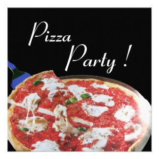PARTIE de PIZZA dîner ITALIEN de CUISINE brunch Invitations