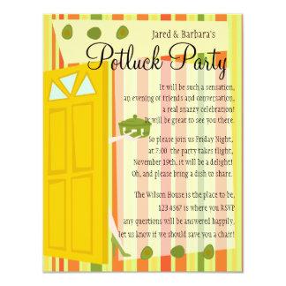 Partie de Potluck Carton D'invitation 10,79 Cm X 13,97 Cm