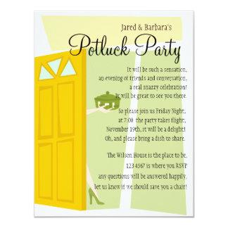 Partie de Potluck Carton D'invitation