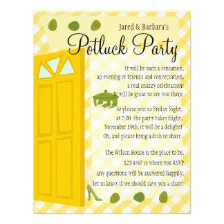 Partie de Potluck Invitation Personnalisée
