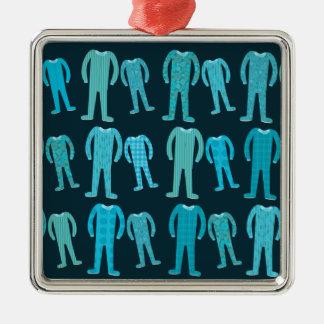 Partie de pyjama modelée ornement carré argenté