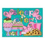Partie de pyjama/sommeil SRF sur- Carton D'invitation 12,7 Cm X 17,78 Cm