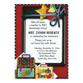 Partie de retraite carton d'invitation  12,7 cm x 17,78 cm