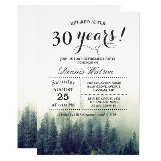 Partie de retraite chic élégante de pins de forêt carton d'invitation  12,7 cm x 17,78 cm