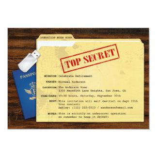 Partie de retraite extrêmement secrète de surprise carton d'invitation  12,7 cm x 17,78 cm