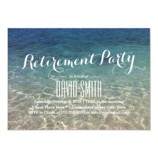 Partie de retraite tropicale de plage carton d'invitation  12,7 cm x 17,78 cm