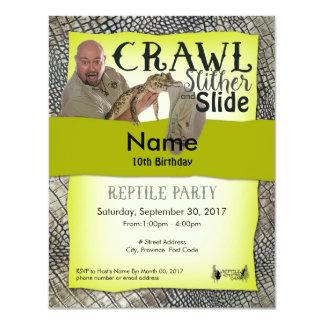 Partie de -Site d'invitations de partie de reptile Carton D'invitation 10,79 Cm X 13,97 Cm