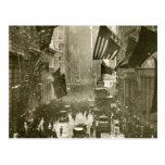 Partie de Wall Street, extrémité de WW1, 1918 Cartes Postales