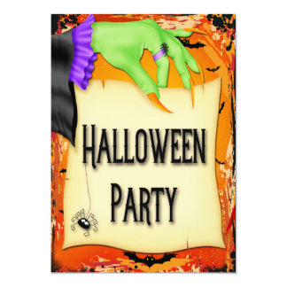 Partie déplaisante de Halloween de main de Carton D'invitation 12,7 Cm X 17,78 Cm