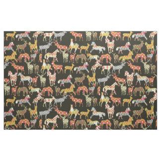 partie d'ikat de cheval de cerfs communs tissu