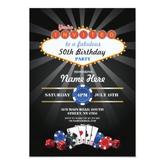 Partie d'invitation d'anniversaire de nuit de carton d'invitation  12,7 cm x 17,78 cm