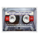 Partie drôle de Mixtape de la cassette 80s Cartons D'invitation