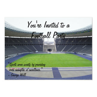 Partie du football carton d'invitation  12,7 cm x 17,78 cm