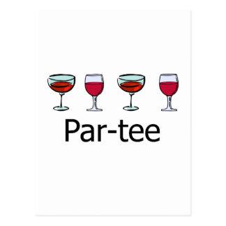 partie en verre de vin de Pair-pièce en t Carte Postale