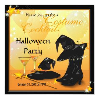 Partie enchanteresse de sorcière de cocktail de carton d'invitation  13,33 cm