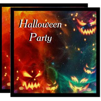 Partie fantôme de Halloween de citrouilles Carton D'invitation 13,33 Cm
