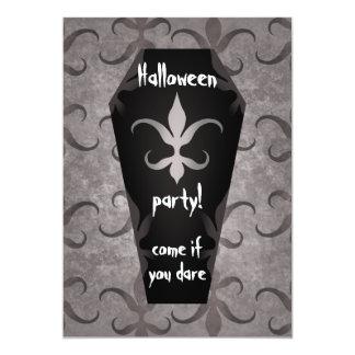 Partie gothique de Halloween de cercueil Carton D'invitation 12,7 Cm X 17,78 Cm