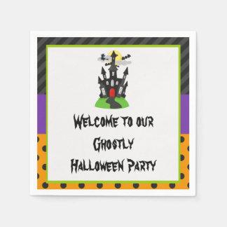 Partie hantée de Halloween de Chambre Serviettes Jetables