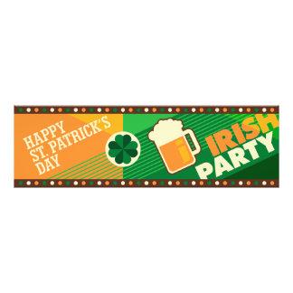 Partie irlandaise de shamrock du jour de St Photos D'art