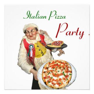 PARTIE ITALIENNE de PIZZA blanc rouge de RESTAURA Invitations