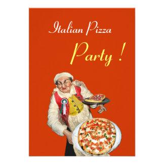 PARTIE ITALIENNE de PIZZA noir orange de RESTAURA