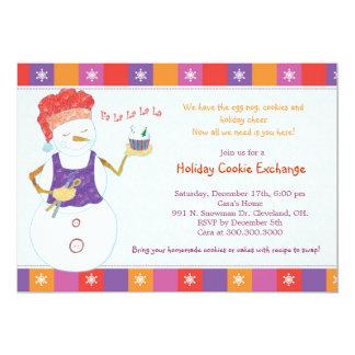 Partie lunatique d'échange de biscuit de vacances carton d'invitation  12,7 cm x 17,78 cm