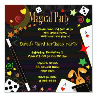 Partie magique de l'invitation 043 d'anniversaire