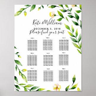 partie/mariage floraux de plan de Tableau de