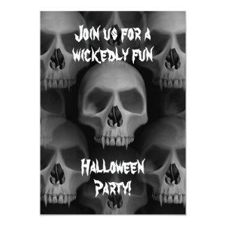 Partie mauvaise gothique d'horreur de Halloween de Carton D'invitation 12,7 Cm X 17,78 Cm