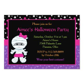 Partie mignonne de costume de maman de Halloween Carton D'invitation 12,7 Cm X 17,78 Cm