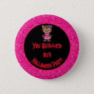 Partie mignonne de Halloween de fille de Badges