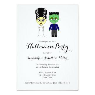 Partie mignonne de Halloween de Frankenstein et de Carton D'invitation 12,7 Cm X 17,78 Cm