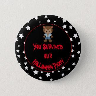 Partie mignonne de Halloween de loup-garou de Badges