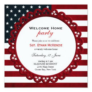 Partie militaire à la maison bienvenue carton d'invitation  13,33 cm