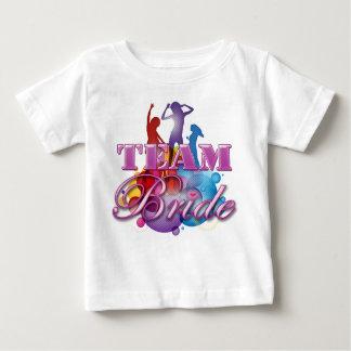 Partie nuptiale de danse d'équipe de demoiselles t-shirts