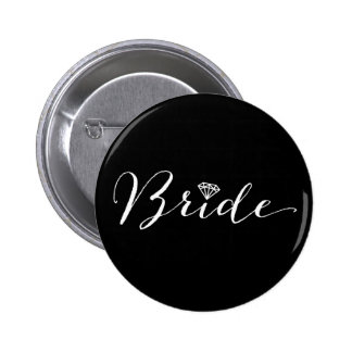 Partie nuptiale de mariage chic de diamant de badges