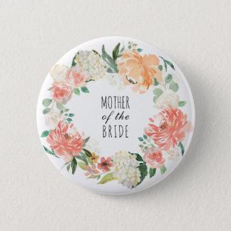Partie nuptiale florale d'aquarelle badges