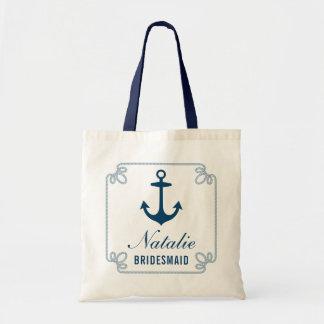 Partie nuptiale l'épousant nautique de l'ancre | tote bag