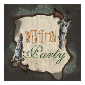 Partie occidentale de corral de ranch de cowboy carton d'invitation  13,33 cm