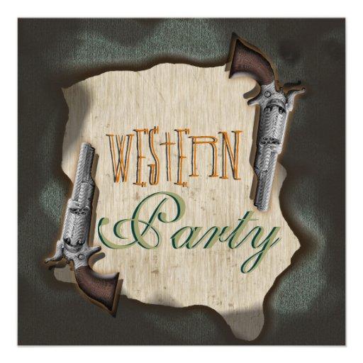 Partie occidentale de corral de ranch de cowboy invitation