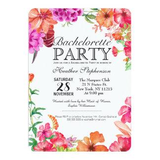 Partie orange rose de Bachelorette de jardin Carton D'invitation 12,7 Cm X 17,78 Cm