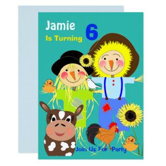 Partie orientée d'anniversaire de enfant carton d'invitation  12,7 cm x 17,78 cm