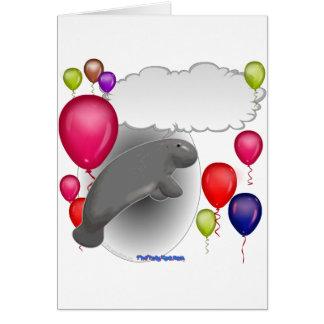 Partie parlante de lamantin carte de vœux