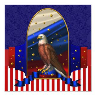 Partie patriotique de campagne politique carton d'invitation  13,33 cm