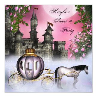 Partie rose de princesse Sweet 16 de roses Carton D'invitation 13,33 Cm