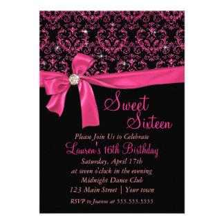Partie rose noire élégante de sweet sixteen de dam