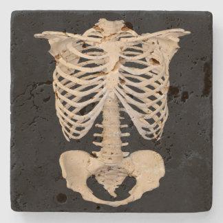 Partie squelettique de Halloween de cage Dessous-de-verre En Pierre