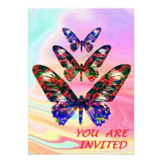 Partie tropicale/faire-part de mariage de carton d'invitation  11,43 cm x 15,87 cm