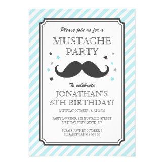 Partie turquoise d'anniversaire de enfant de coup  carton d'invitation