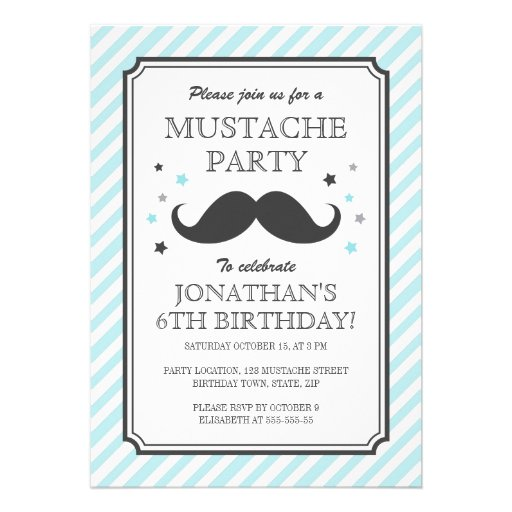 partie turquoise d 39 anniversaire de enfant de coup carton d 39 invitation 12 7 cm x 17 78 cm zazzle. Black Bedroom Furniture Sets. Home Design Ideas